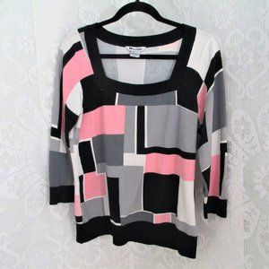 NyGard Collection Pink and Black Checked Top